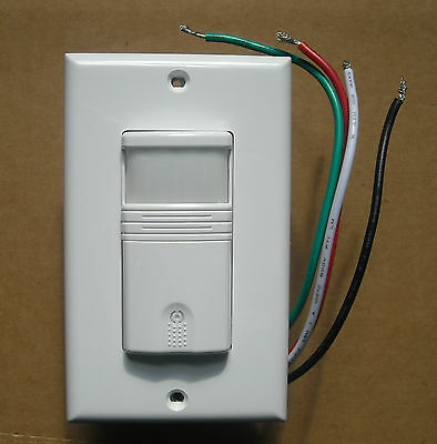 3 Way Occupancy / Vacancy Wall Motion Sensor Detector 120V/277V Switch White