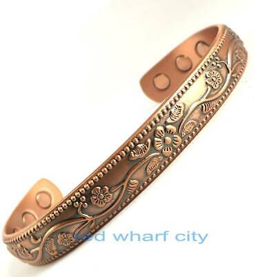 Ladies Bio Healing Solid Copper  Magnetic Therapy Bangle-Arthritis Pain Relief