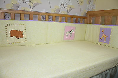 all way round nautical nursery, bedding NEW blue baby cotbed//cot 2 BUMPERS