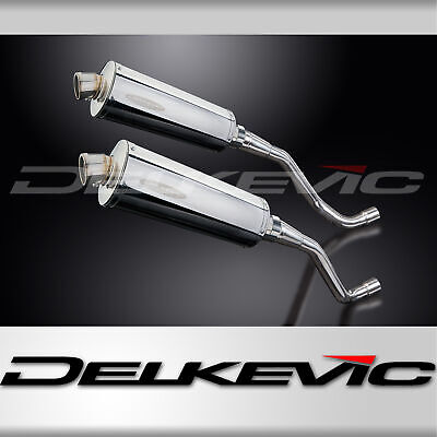 STAINLESS STUBBY OVAL 350mm SILENCER EXHAUST XT660X SUPERMOTO XT660R TRAIL 04-16