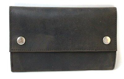 Quality Full Grain Nu-buck Cow Hide Leather Tobacco Pouch. Style: 12048