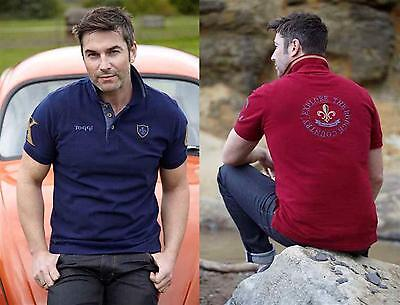Toggi Priestley Mens Cotton Pique Polo Shirt sizes S - XXL  Navy or /Mulled Wine