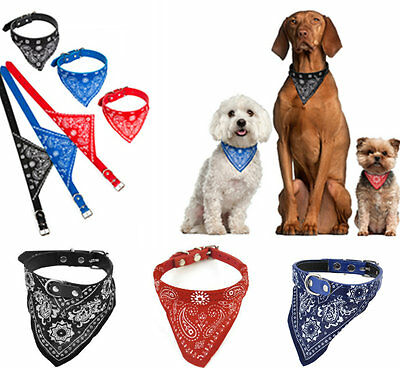 Dog puppy cat pet adjustable collar with bandana scarf neckerchief brand new