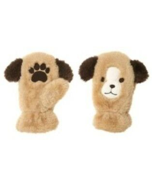 Gymboree Alpine Patrol Puppy Dog Furry Mittens 0 12 24 2T 3T 4T 5T Nwt