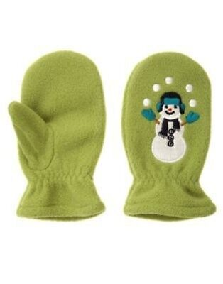 GYMBOREE SNOW CHILLIN/' RED SNOWMAN SWEATER MITTENS 0 12 24 2T 3T  NWT