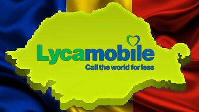 LycaMobile Romania SIM, Any size, Romanian number, Data and Voice Sim, Activated