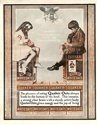 Quaker Oats -  Quaker Rolled White Oats  -  The American Cereal Co. -  1905