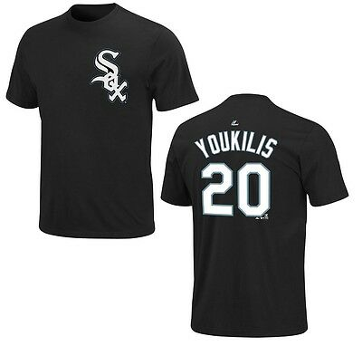 MLB Baseball Name&Number T-Shirt CHICAGO WHITE SOX Kevin Youkilis #20 black