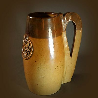 VERY RARE EARLY DOULTON LAMBETH STONEWARE JUG in the form of a JACK