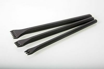Italian Stone Carving Fire-Sharp Carbon Steel Roughing Claw Chisels 13, 20, 32mm