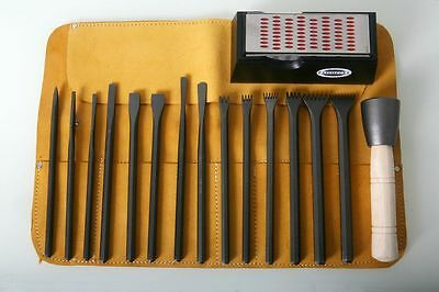 Italian Stone Carving Fire-Sharp Carbon Steel 17pc Full Carving Set