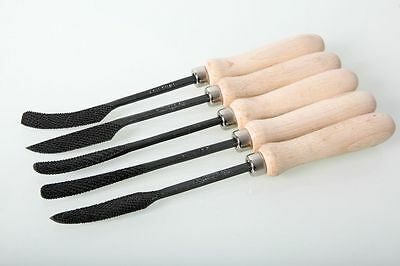 Italian Fire-Sharp Carbon Steel Stone Carving Hand Riffler Set with Handle