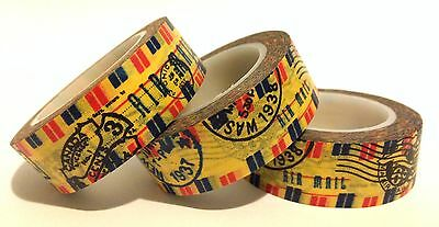 Washi Tape Airmail 15Mm Wide X 10 Mtr Scrap Planner Craft Wrap Mail Art