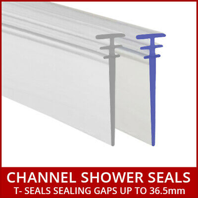 Long Bath Shower Screen Seal Multi T Profile Folding Door White or Clear