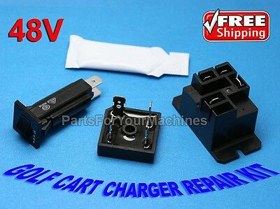 Battery Charger Repair Kit For Club Car, 48V, Powerdrive 2, Model 22110
