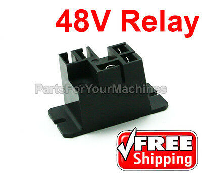 Battery Charger Relay, 48V, Lester, Club Car, Powerdrive Chargers, Golf Carts