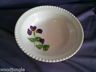 Vintage   BLUE RIDGE SOUTHERN POTTERIES VIOLET FLOWER VEGETABLE BOWL PURPLE