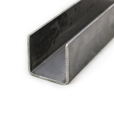 Mild Steel Pressed Steel Channel 25mm x 25mm 3mm Thick 0.5m - 6m Lengths