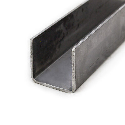 Mild Steel Pressed Steel Channel | 75mm x 40mm | 3mm Thick | 0.5m - 6m Lengths