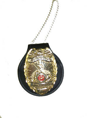 NYPD & LAPD Police Neck Badge Holder Fits CPD & Texas Peace Officer Badges