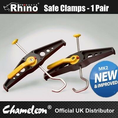 Rhino Safeclamps Van Roofrack Ladder Clamps - PAIR - Free Delivery