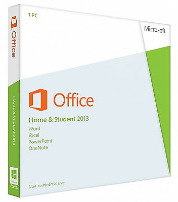 Microsoft Office Home & Student 2013 1License 1 PC Word Excel PowerPoint OneNote