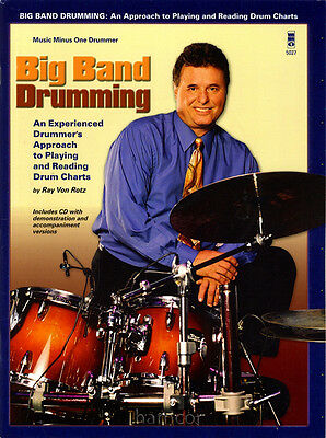 Big Band Drumming Music Minus One Drum Play-Along Music Book/CD Ray Von Rotz