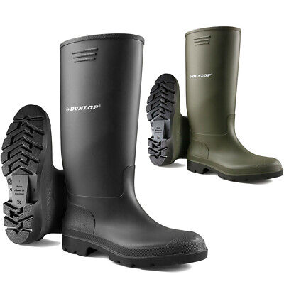 New Mens Rubber Dunlop Wellingtons Wellies Waterproof Boots Shoes Size Uk 3-10