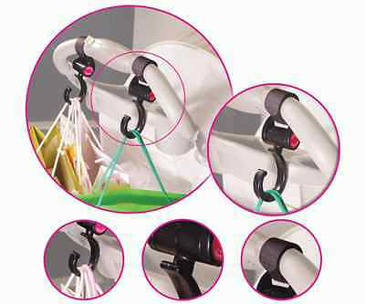 Happy mummy Pram Clips Hooks 2 in a Pack stroller Pushchair Hooks Stroller Clips