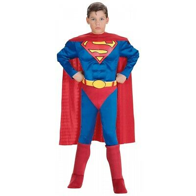 Superman Costume for Kids Toddler Boys Superhero Halloween Fancy Dress