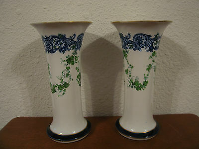 RARE Pair of Antique 1898 Royal Worcester Tiffany & Co. Porcelain Vases