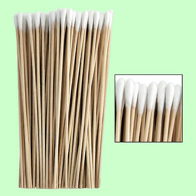 """Cotton Swabs Swab Q-tips 6"""" Extra Long Wood Wooden Handle Cleaning Applicators"""