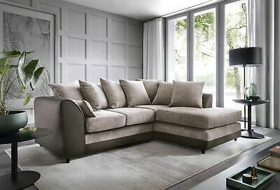 Byron Corner Group Sofa Right and Left ,Brown and Black