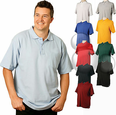 Adults Polo with Pocket Size XS S M L XL 2XL 3XL 4XL 5XL  Mens Ladies Shirt Top
