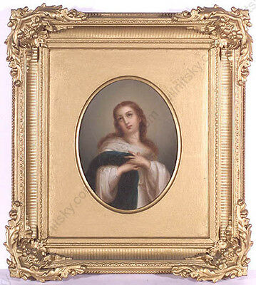 """Holy Mary"", Continental School of Early 19th Century, Oil on Canvas"