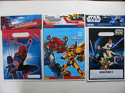 Party Loot Bags Lootbags Parties Various Themes Transformers Star Wars Spiderman