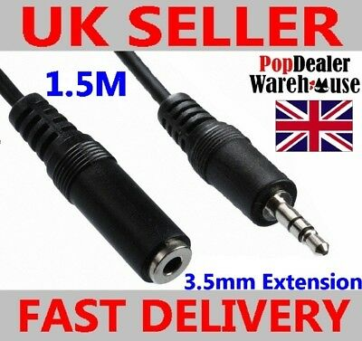 3.5mm Jack Plug Socket Headphone Extension Cable (1.2m)