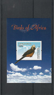 Tanzania 2011 MNH Birds of Africa 1v Sheet II White-headed Mousebird