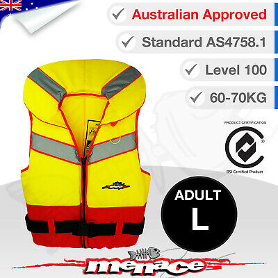 ADULT LARGE Life Jacket - Foam Type 1 New Lifejacket Vest PFD1 Level L100