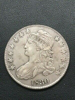 1830 Capped Bust Half Dollar Coin (Nice)