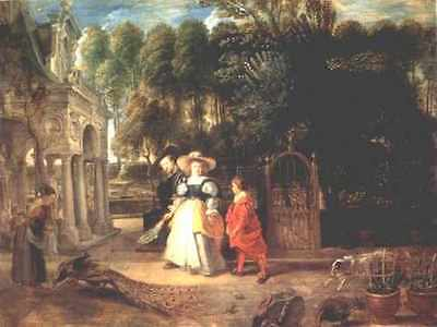 Rubens In His Garden With Helena Fourment 1631 A4 Print