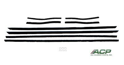 1967- 1968 Ford Mustang Window Felt Weatherstrip Kit Convertible, 8 Pieces NEW