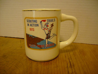 BOY Scout Scouting Trails In Action 1973 Valley Forge Council Mug Scouting