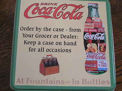 "COCA~COLA 500~Piece BOTTLE~Shaped Puzzle in Collectible 8.25"" Square Tin Box"