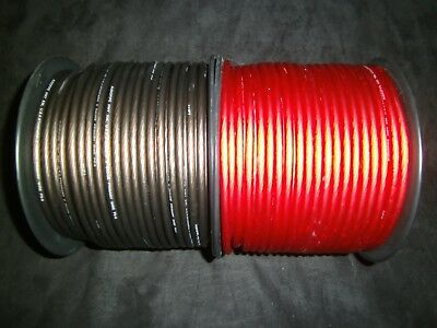 8 GAUGE WIRE 50 FT AWG 25 FT RED 25 BLACK CABLE SUPER FLEXIBLE PRIMARY STRANDED