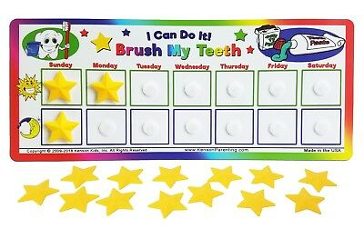 I Can Do It! Tooth brushing chart, no more reminding! reward, incentive chore