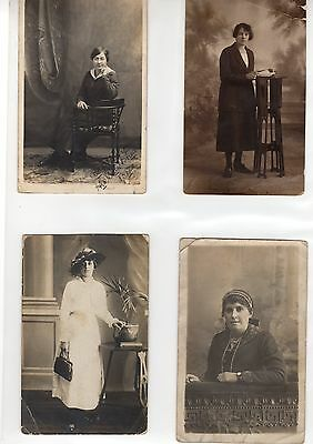 4 x  Antique Vintage Postcards Early 1900s Photographic