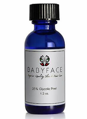 CHEMICAL PEEL - BABYFACE 35% PRO GLYCOLIC ACID NO DOWNTIME - GREAT 1st PEEL