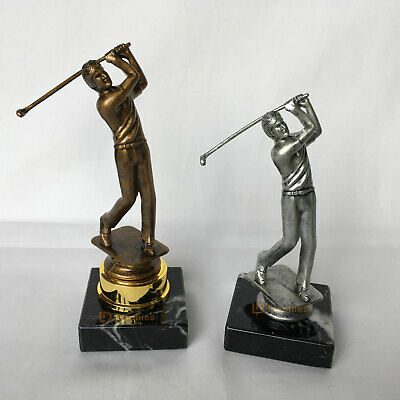 Golf Trophies, F/Engraving - 2 Sizes & 2 Colours, Male Golf Trophy - Golf Awards