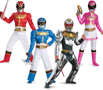 Child TV Show Nick Super Power Rangers MegaForce Classic Deluxe Muscle Costume